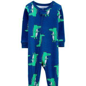Carter's 1-Piece Alligator Snug Fit 100% Cotton Footie PJs Size 18 Months